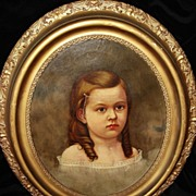 Georgian Painting Of A  Young Girl