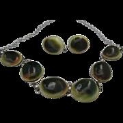 Operculum Shivas Eye Necklace Earrings Germany
