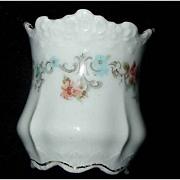 Vintage Hermann OHME Porcelain Floral Toothpick Holder