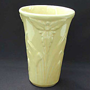 Shawnee Art Pottery Floral Vase - Yellow - Vintage