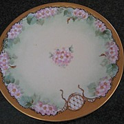 Antique Hand Painted Apple Blossom Pickard Plate by Charles Hahn