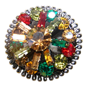 Vintage Multi Color Brooch Pin