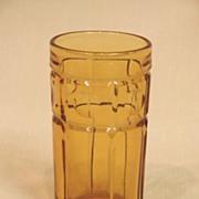 Thumbprint Bulls Eye Panel EAPG Juice Tumbler American Pressed Pattern Glass