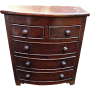 Childs or Salesman Sample Antique Miniature Dresser Chest of Drawers C1800