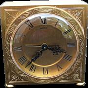 Qilt Bronze Shreve Table Travel Clock CH Hour France Movement Antique