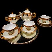 ES Germany Prov SXE Porcelain Tea Set Chocolate Set Egg Shell Porcelain