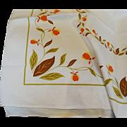 Hall China Jewel Tea Autumn Leaf Tablecloth Jewel T Unused  Scarce