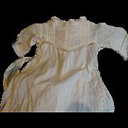 Antique Baby Christening Gown Circa 1890-1910 Linen