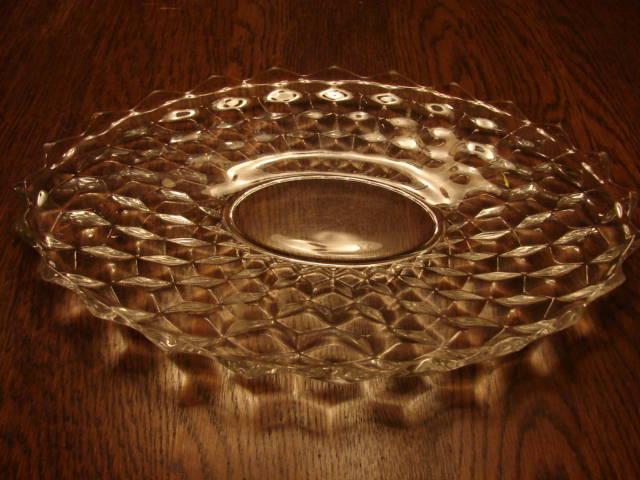 "Fostoria Glass American 13.5"" Torte Serving Platter Tray"