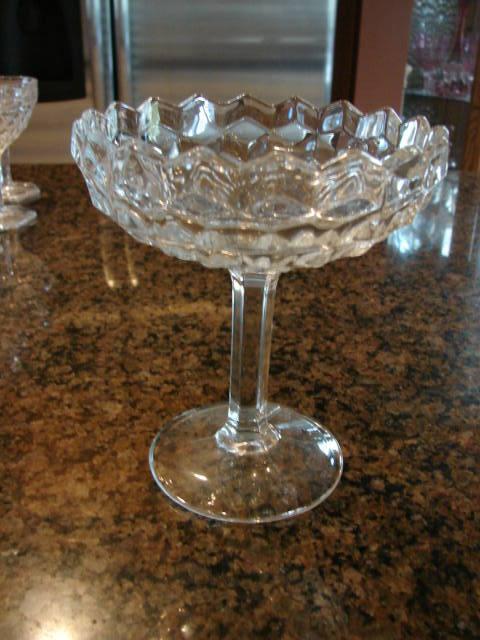 "Fostoria Glass American 6 ¼"" Compote Free Shipping"