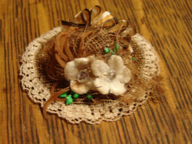 Vintage Designer Milliner Doll Hat Free Shipping