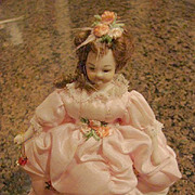 Heirloom Doll House Gowned Lady Bisque Doll 6""