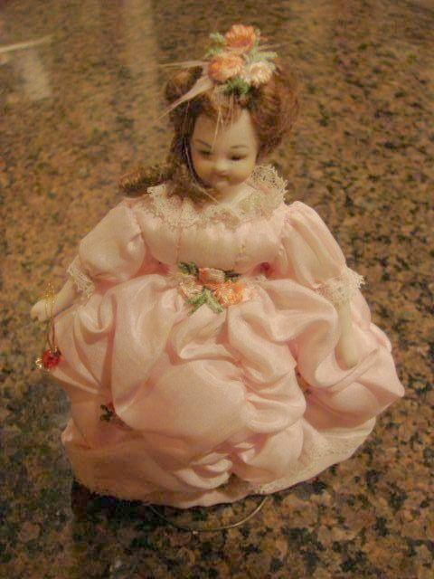 """Heirloom Doll House Gowned Lady Bisque Doll 6"""""""