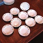 Hall's China Jewel Tea Autumn Leaf 10 Dessert Dishes Fruit Bowls NM
