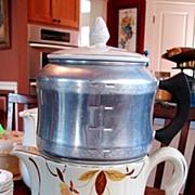 Hall's China Jewel Tea Autumn Leaf Drip Insert Coffee Pot W/scarce West Bend Aluminum Drip Set Complete