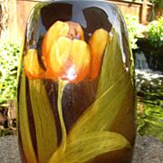 Weller Louwelsa Pansies Vase Lamp Base
