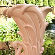 20th C McCoy Matte Pink Swan Vase