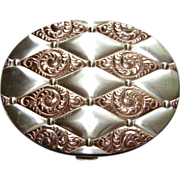 Mid Century Sterling Silver Make Up Compact