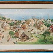 Chowdertown New England Charlotte Sternberg 1986 Limited Edition Print Custom Framed