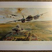 """Rangers On The Rampage"" Robert Taylor Limited Edition Aviation Print WWII Pilots Signed"