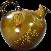 Hand Painted Bavaria Corn Ball Jug Pitcher c. 1900