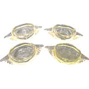 4 Clear Glasbake Deviled Crab Dishes