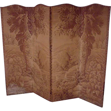 Folding Screen with Tapestry