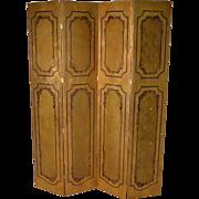 Wooden Folding Screen, Classical Design, 4 Panel