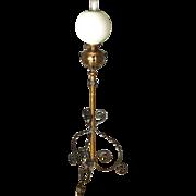 Victorian Iron & Brass Floor Lamp