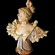 Art Nouveau Porcelain Bust