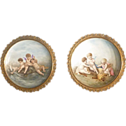 Pair of Signed Wall Hanging Plates