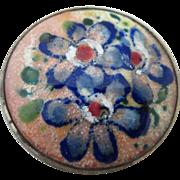 Vintage Hand Painted  Enamel Brooch