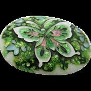 Vintage Hand Made Cloisonne` Enamel Butterfly Brooch