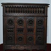 French Breton Miniature Cabinet c. 1920's