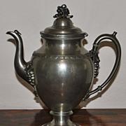 Reed & Barton Pewter Coffee Pot,c.1880