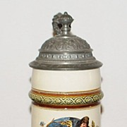 "German "" Zum Wohl!"" Covered  1/2L Stein,1893"