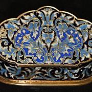 French Napoleon III Enamel Table Snuff Box - 1880's