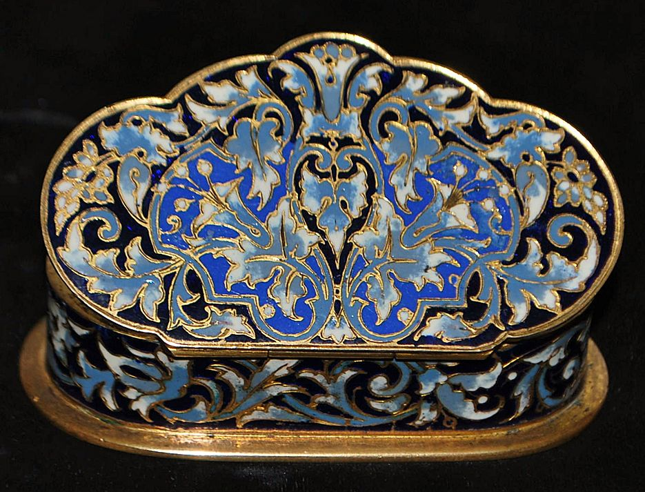 French Napoleon III Enamel Table Snuff Box - 1880's