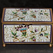 French Cloisonne Enamel Table Snuff Box, c. 1890