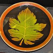 """English Poole Pottery """"Aegean"""" Plate, c. 1975"""