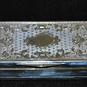 Italian fancy 800 Silver Snuff Box, c. 1900