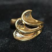 14KP Modernist Gold Ring