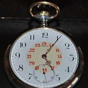 Large Omega Silver OF Pocket Watch, c. 1900
