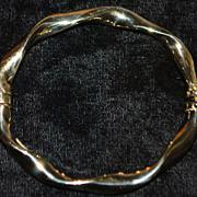 14K Italian Gold Twist Bangle Bracelet