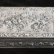 Italian 800 Silver Flli Coppini Fancy Box, 1920's