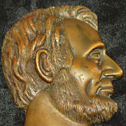 Bronze Profile of President A. Lincoln, c.1900