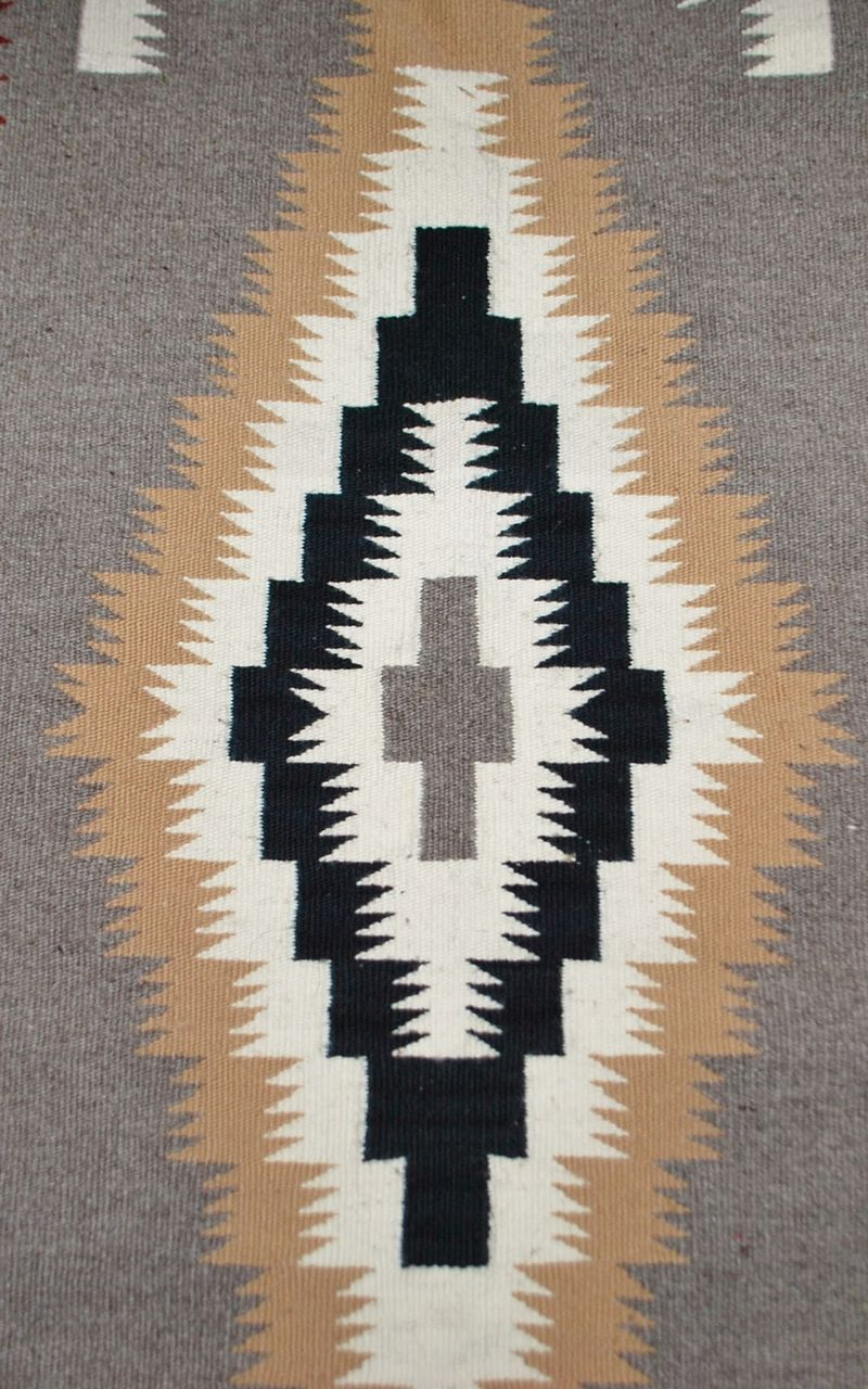 Small Navajo Throw Rug - Finely Woven