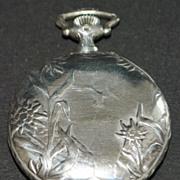 Art Nouveau 900 Silver Longines Pocket Watch, c. 1905