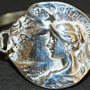 """Sterling """"Maiden"""" Medallion Disc Bracelet"""