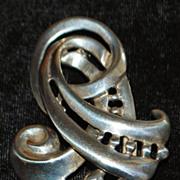 Art Deco Sterling Silver Brooch - 1930's
